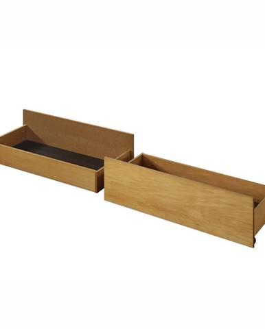 2 kusy zásuvný kontajner pod posteľ dub MIDEA