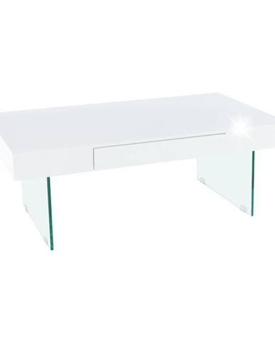 Konferenčný stolík biely extra vysoký lesk DAISY 2 NEW poškodený tovar