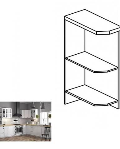 Dolná skrinka s dvomi policami D25PZ ľavá biela PROVANCE