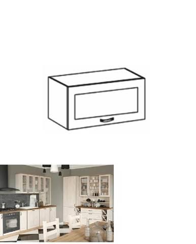 Horná skrinka so sklom biela/sosna nordická ROYAL G60KSN