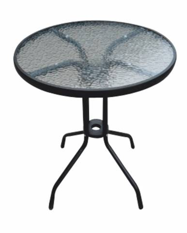 Jedálenský stôl čiena oceľ/tvrdené sklo BORGEN TYP 1