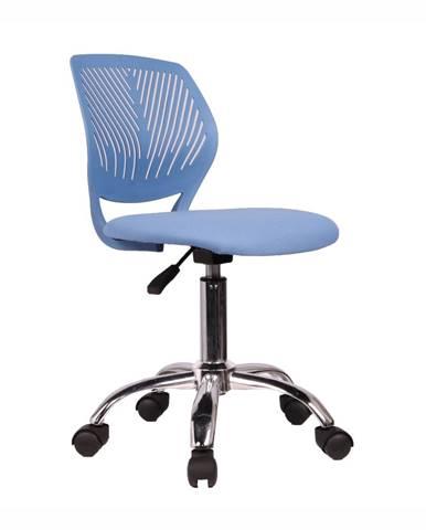 Otočná stolička modrá/chróm SELVA
