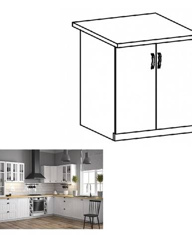 Spodná skrinka s dvierkami D60 biela/sosna andersen PROVANCE