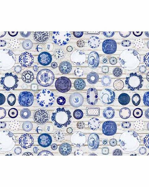 Kondela Koberec modrá/krémová 160x230 PARLIN