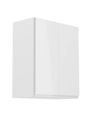 Horná skrinka biela/biely extra vysoký lesk AURORA G602F