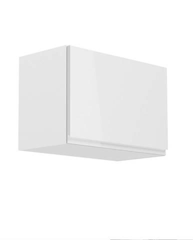 Horná skrinka biela/biely extra vysoký lesk AURORA G60K