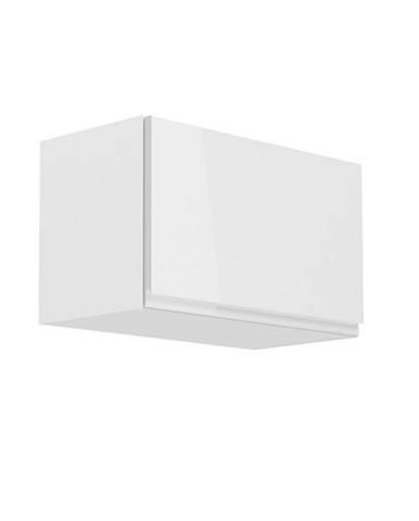 Horná skrinka biela/biely extra vysoký lesk AURORA G60KN