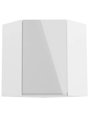 Horná skrinka biela/biely extra vysoký lesk AURORA G60N