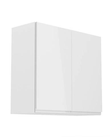 Horná skrinka biela/biely extra vysoký lesk AURORA G80