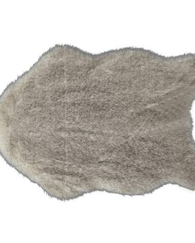 Umelá kožušina krémovo-hnedá 60x90 MALONE
