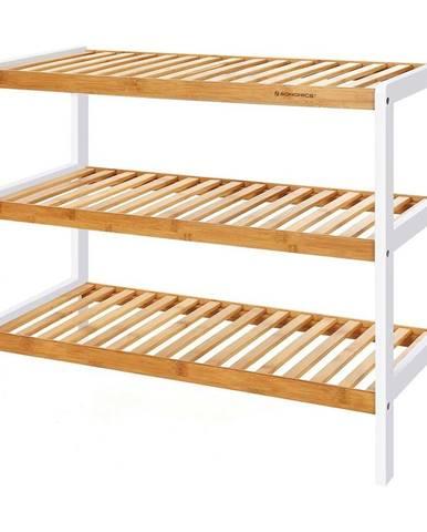 Bambusový regál na 9 párov topánok Songmics, šírka 70 cm