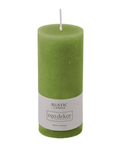 Zelená sviečka Rustic candles by Ego dekor Rust, doba horenia 58 h