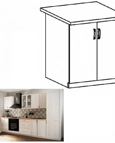 Dolná skrinka D80 biela/sosna Andersen SICILIA