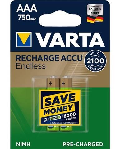 Batéria nabíjacie Varta Endless HR03, AAA, 750mAh, Ni-MH, blistr