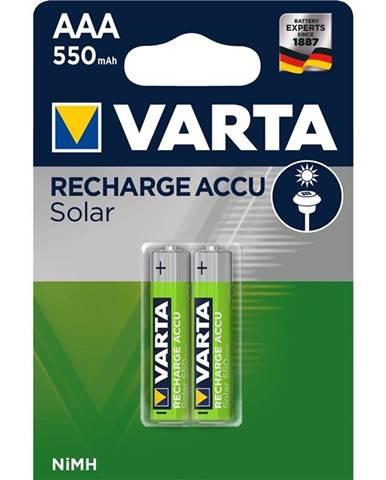 Batéria nabíjacie Varta Solar, HR03, AAA, 550mAh, Ni-MH, blistr 2ks