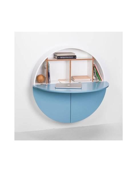 EMKO Modro-biely multifunkčný nástenný stôl EMKO Pill