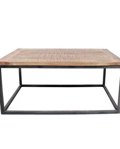 Čierny konferenčný stolík s doskou z mangového dreva LABEL51 Box XL