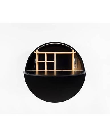 Čierny multifunkčný nástenný stôl EMKO Pill