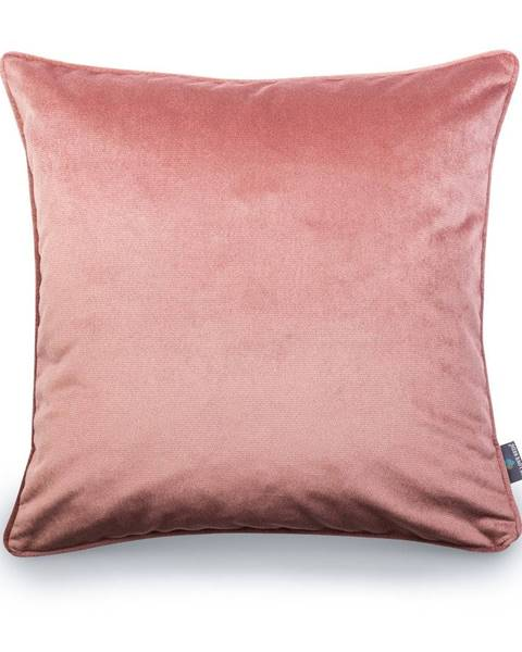 WeLoveBeds Ružová obliečka na vankúš WeLoveBeds Heard Wood, 50 × 50 cm