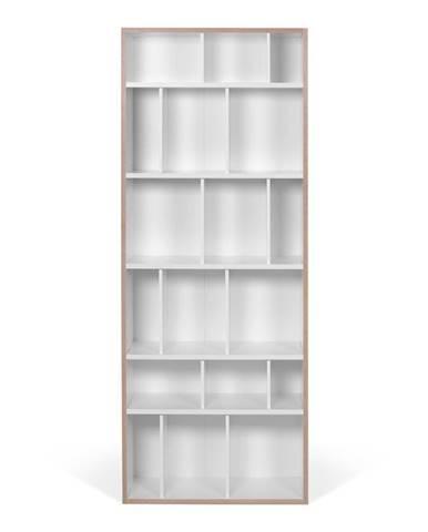 Biela knižnica TemaHome Group, šírka 72 cm