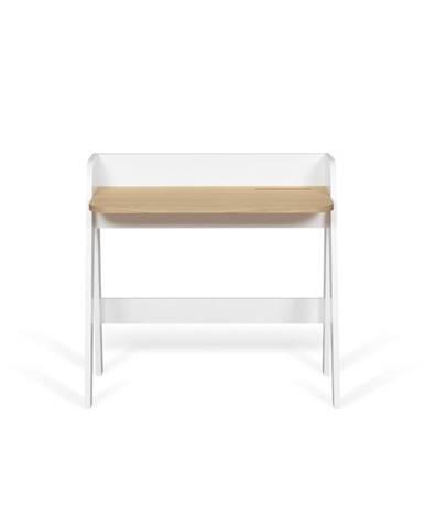 Biely pracovný stôl s doskou v dekore duba TemaHome