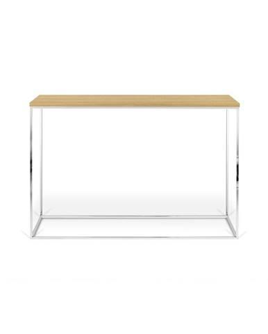 Konzolový stolík s dubovou dyhou TemaHome