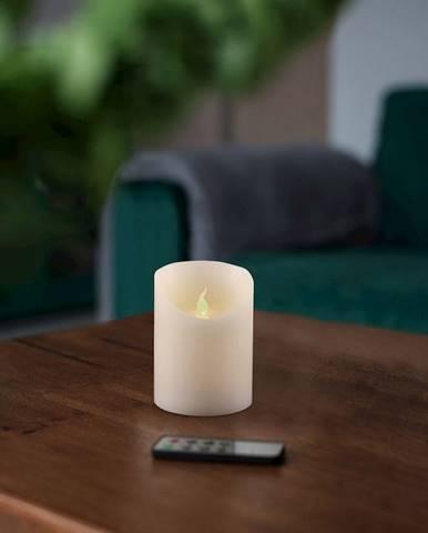 LED sviečka s diaľkovým ovládačom DecoKing Wax, výška 10 cm