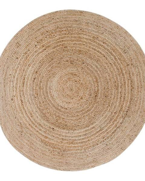 House Nordic Svetlohnedý okrúhly koberec HoNordic Bombay, ø 180 cm