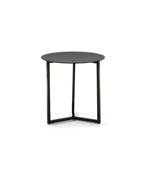 La Forma Čierny odkladací stolík La Forma Marae, ⌀50cm