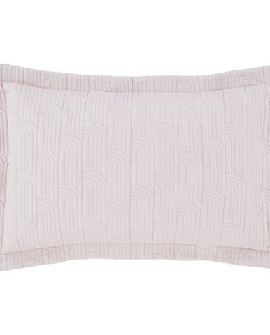 Súprava 2 ružovo-sivých prešívaných obliečok na vankúš Catherine Lansfield Blossom, 75x50cm
