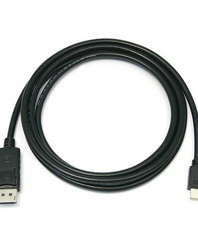 Kábel PremiumCord Mini DisplayPort / DisplayPort, M/M, 2m čierny
