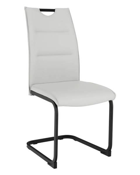 Tempo Kondela Jedálenská stolička svetlosivá/čierna MEKTONA rozbalený tovar