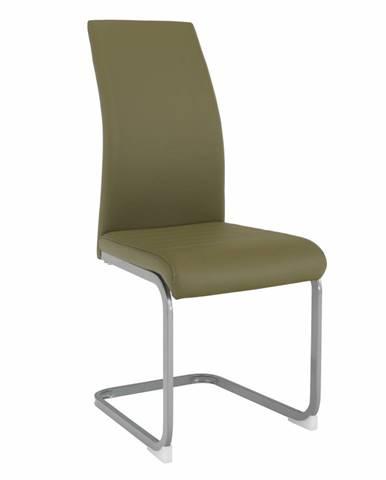 Jedálenská stolička olivovozelená/sivá NOBATA rozbalený tovar