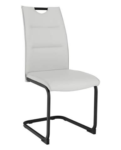 Jedálenská stolička svetlosivá/čierna MEKTONA rozbalený tovar