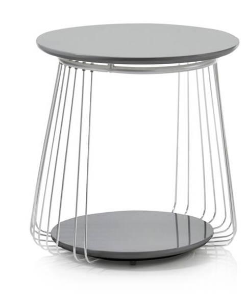 Sconto Prístavný stolík VENUTO čierna, 50 cm