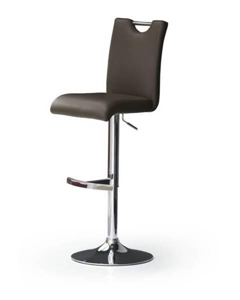 Sconto Barová stolička HAILEY hnedá/koženka