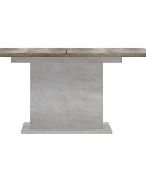 Sconto Jedálenský stôl DURO pínia biela/dub antik