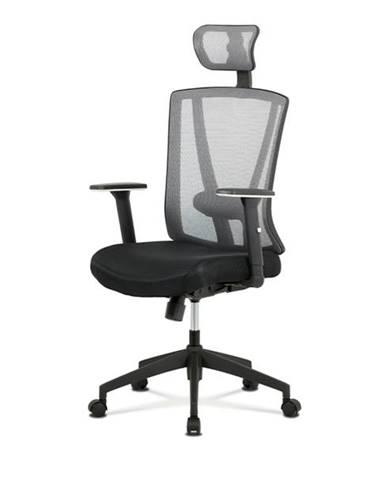 Kancelárska stolička EDWARD čierna/sivá