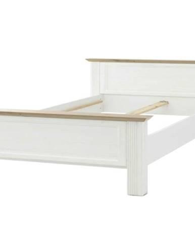 Posteľ JASMIN biela/dub artisan, 180x200 cm