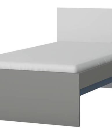 Posteľ LASER modrá/sivá, 90x200 cm