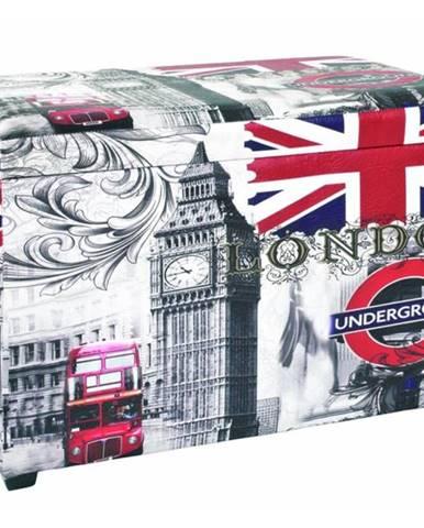 Truhlica so sedákom UNDERGROUND potlač London