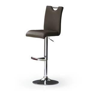 Barová stolička HAILEY hnedá/koženka