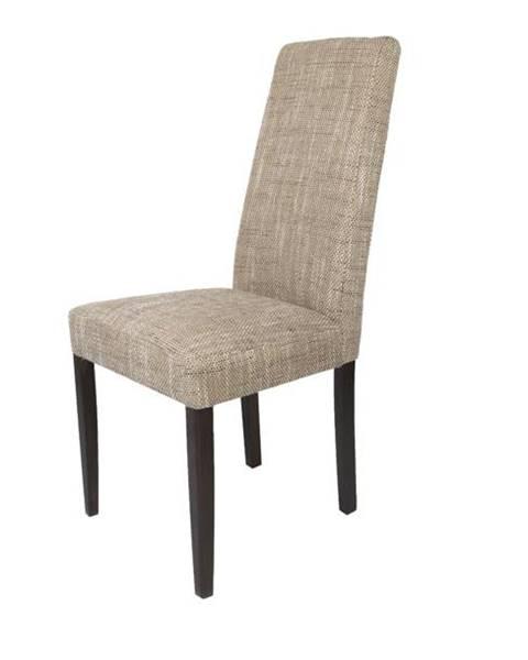 Sconto Jedálenská stolička CAPRICE cappucino/tmavohnedá