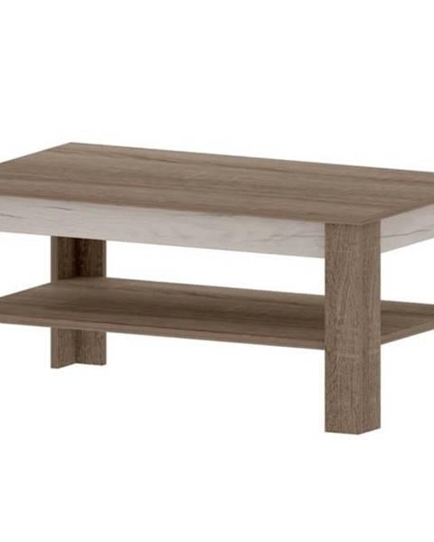 Sconto Konferenčný stolík VALENCIA dub truffel/dub craft biely