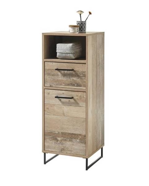 Sconto Kúpeľňová skrinka ROOF old style/čierna