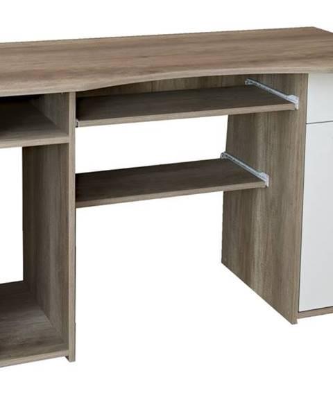 Sconto PC stôl LINDA dub canyon/biela