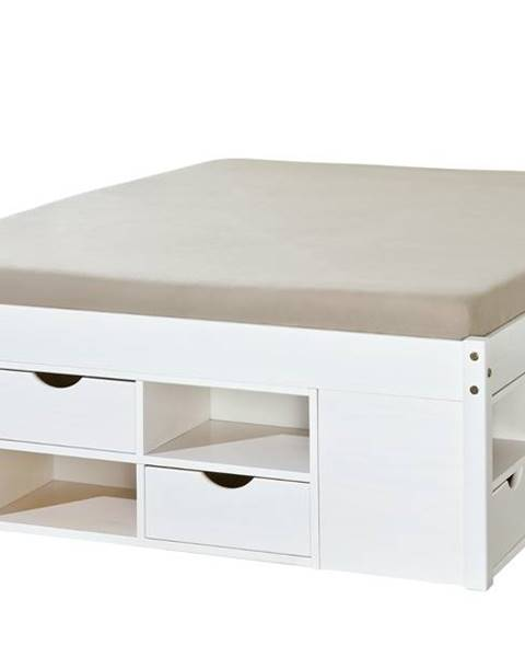 Sconto Posteľ SCALLA biela, 160x200 cm
