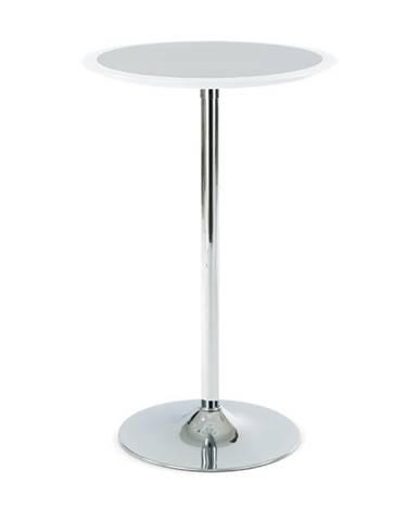 Barový stolík ONTARIO biela/strieborná
