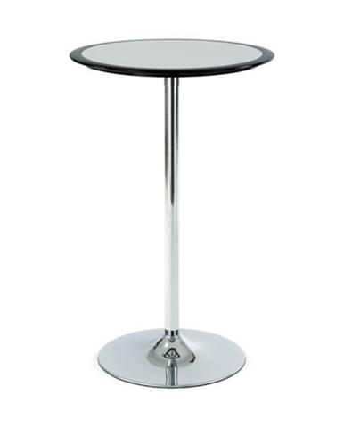 Barový stolík ONTARIO čierna/strieborná