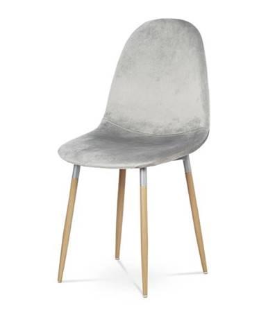 Jedálenská stolička COURTNEY strieborná/buk